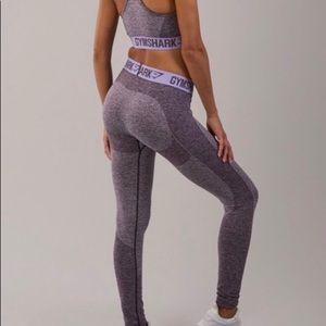 Gymshark Flex Leggings - Purple Marl/Lilac